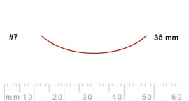 7/35-7/35, Pfeil, Gubia Recta corte #7, 35mm, curvada.
