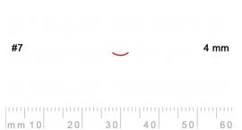 7/4-7/4, Pfeil, Gubia Recta corte 7, 4mm, curvada.