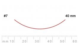 7/40-7/40, Pfeil, Gubia Recta corte #7, 40mm, curvada.