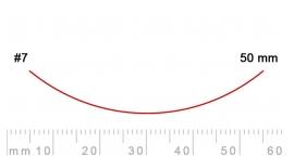 7/50-7/50, Pfeil, Gubia Recta corte #7, 50mm, curvada.