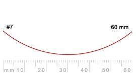 7/60-7/60, Pfeil, Gubia Recta corte #7, 60mm, curvada.