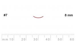 7/8-7/8, Pfeil, Gubia Recta corte 7, 8mm, curvada.