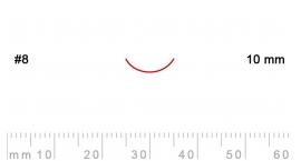 8/10-8/10, Pfeil, Gubia Recta corte 8, 10mm, curvada.