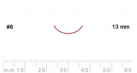 8/13-8/13, Pfeil, Gubia Recta corte 8, 13mm, curvada.
