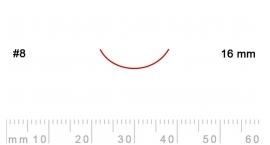 8/16-8/16, Pfeil, Gubia Recta corte 8, 16mm, curvada.