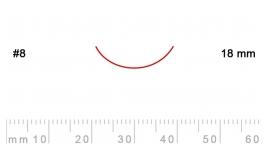 8/18-8/18, Pfeil, Gubia Recta corte 8, 18mm, curvada.