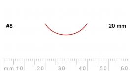 8/20-8/20, Pfeil, Gubia Recta corte 8, 20mm, curvada.
