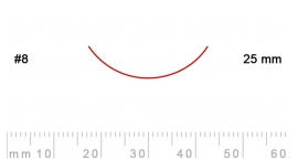 8/25-8/25, Pfeil, Gubia Recta corte #8, 25mm, curvada.
