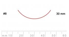 8/30-8/30, Pfeil, Gubia Recta corte #8, 30mm, curvada.
