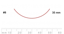 8/35-8/35, Pfeil, Gubia Recta corte #8, 35mm, curvada.