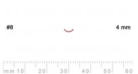 8/4-8/4, Pfeil, Gubia Recta corte 8, 4mm, curvada.