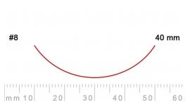 8/40-8/40, Pfeil, Gubia Recta corte #8, 40mm, curvada.