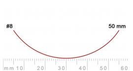 8/50-8/50, Pfeil, Gubia Recta corte #8, 50mm, curvada.