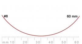 8/60-8/60, Pfeil, Gubia Recta corte 8, 60mm, curvada.