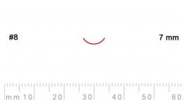8/7-8/7, Pfeil, Gubia Recta corte 8, 7mm, curvada.