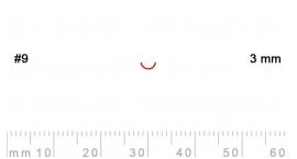 9/3-9/3, Pfeil, Gubia Recta corte 9, 3mm, media caña.