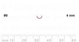 9/4-9/4, Pfeil, Gubia Recta corte 9, 4mm, media caña.