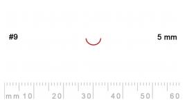 9/5-9/5, Pfeil, Gubia Recta corte 9, 5mm, media caña.