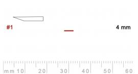 L 1/4-L 1/4, Pfeil, Gubia recta, corte 1, 4mm, mango pera.