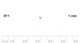 L 11/1-L 11/1, Pfeil, Gubia recta, corte 11, 1mm, mango pera.