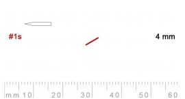 L 1s/4-L 1s/4, Pfeil, Gubia recta, oblicua doble bisel 1, 4mm, mango pera.
