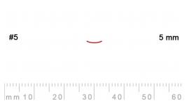 L 5/5-L 5/5, Pfeil, Gubia recta, corte 5, 5mm, mango pera.