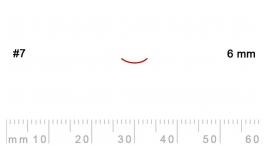L 7/6-L 7/6, Pfeil, Gubia recta, corte 7, 6mm, mango pera.