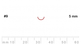 L 9/5-L 9/5, Pfeil, Gubia recta, corte 9, 5mm, mango pera.