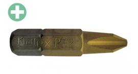 830252-Puntas PH2 TITANIO phillips, caja 10pz. tornillar melamina Narex 830252.