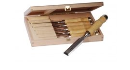 Z 1.set 6-Pfeil Z 1.set 6, set de 6 formones, redondo,  cajita de madera.