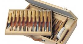 Hbs 25-Pfeil Hbs 25, Set gubias completo, caja madera, escuela Brienz.