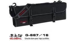 G-667/16-Estuche duro para 16pz cuchillos Global G-667/16.