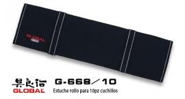 G-668/10-Estuche rollo para 10pz cuchillos Global G-668/10.