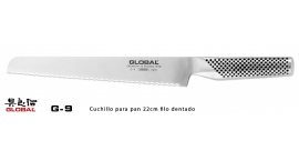 G-9-Cuchillo para pan 22cm filo dentado Global G-9.