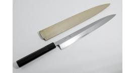 R2-10236-Cuchillo Yanagi 30cm acero super inox R2 + protector.