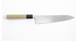 BS-gi210-Cuchillo Gyuto 210mm inox acero + Aogami Blue Super.