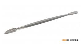 L150-5-15-Escofina de codillo 5 brocha y rhombus 150mm pique 15 Liogier L150-5-15.