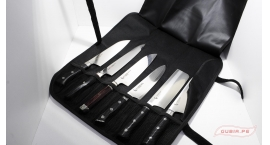 GUB0030-Estuche de cuero para 6pz cuchillos Zanmai GUB00030.