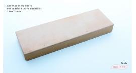 GUB0033-Asentador de cuero  con madera GUB0033.