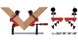 MCX-Prensa de cinta pra fijar esquinas de marcos 22.5°/30°/45°/60° ingletes Bessey MCX.