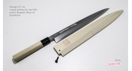 y27b1s-Cuchillo Yanagi 27cm +saya acero Aogami #1 Yoshihiro y27b1s.