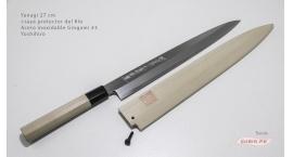 y27g3s-Cuchillo Yanagi 27cm +saya acero inoxidable Gingami #3 Yoshihiro y27g3s.