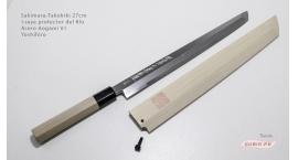 st27b1s-Cuchillo Sakimaru-Takohiki 27cm +saya acero Aogami #1 Yoshihiro st27b1s.