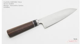 GUB0057-Cuchillo Santoku 18cm acero Elmax Dohnal GUB0057.