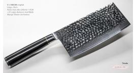 B1z-DC-Hacha Vegetal 18cm acero 1.4528+damasco martillado 67capas Ebano+Bronce B1z-DC.