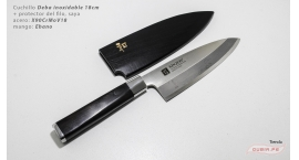 XZ-BJ-YTD180-Deba 18cm +funda X90CrMoV18 Ebano XZ-BJ-YTD180.