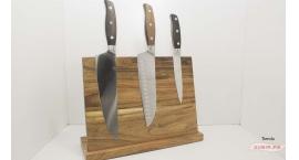KH44-Estante para cuchillos de madera con imanes KH44.