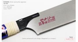 15271-Kataba 25cm corte universal 18TPI traba 0.6mm ZetSaw 15271.