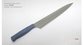 GUB0088-Cuchillo Gyuto 21 cm acero M390  negro y azul GUB0088.