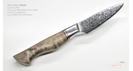 B30-SG-Cuchillo de pelar 9cm  acero 1.4528+damasco 67capas Master Arce B30-SG.